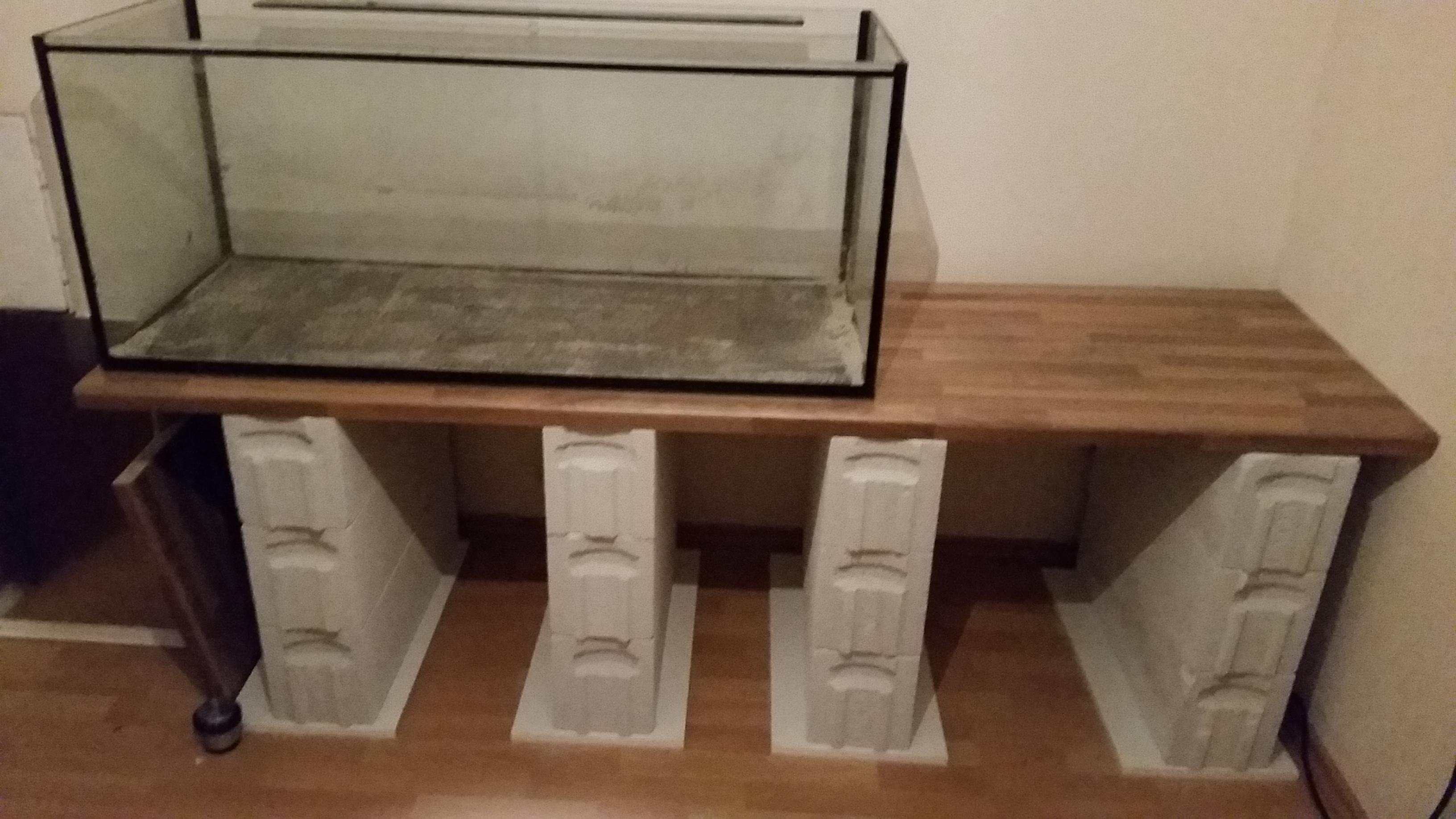 Unterbau sinnvoll errichten aquarium forum for Arbeitsplatte unterbau