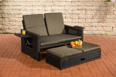 clp polyrattan 2er loungesofa ancona i garten sofa mit. Black Bedroom Furniture Sets. Home Design Ideas
